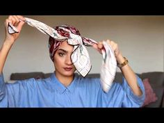 Simple turban tutorial with Roua Hijab Turban Style, Mode Turban, Hijab Style Dress, Pashmina Hijab Tutorial, Turban Tutorial, Hijab Style Tutorial, Doek Styles, Hair Wrap Scarf, Ways To Wear A Scarf