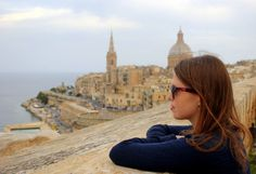 How travel helped her deal with depression.  View over Valletta, Malta