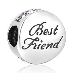 SC Best Friend Charm Bead 925 Sterling Silver Gift packing Included  | eBay