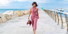 Fashion trendsetter Korin Avraham walks along the beach in Tel Aviv.