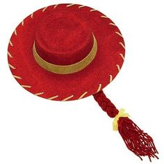 Amazon.com  Toy Story 3 Jessie the Cowgirl Red Sparkle Cowboy Hat with Braid 91724b93445