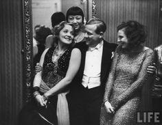 1928. Leni Riefenstahl. Anna May Wong and Marlene Dietrich odd to see those three together...