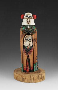 Double Sided Snow Maiden by Malcolm Cheromiah Native American Design, Native American Crafts, Native American Pottery, Native American Artists, American Indian Art, Native American History, Native American Indians, Hopi Indians, Blackfoot Indian