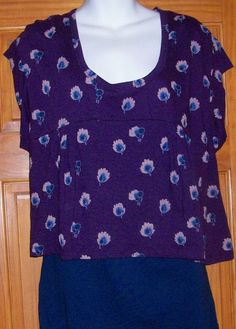 Canyon River Blues 2 Piece Pull Over Top Set Size Large Blue & Purple NWT Floral #CanyonRiverBlues #CamiandPulloverTop #Casual