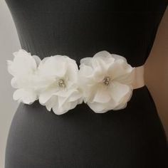 http://www.bravobride.com/p/free-shipping-ivory-bridal-sash-44640.html      Sheer Light Ivory Beaded Flower Bridal Sash/Belt/Headband     Check out more about this vendor on BravoBride!