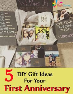 5 Delightful DIY Gift Ideas For Your First Anniversary