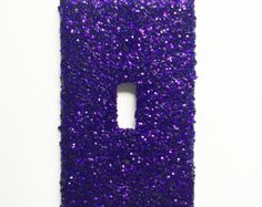 Red Glitter Light Switch Cover Red Glitter Light by HanknCompany