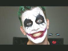 Joker Halloween Makeup Tutorial #halloween #joker #jokermakeup #makeup #tutorial Makeup Pro, Insta Makeup, Eye Makeup, Makeup Tips, Joker Halloween Makeup, Clown Makeup, Cheap Halloween, Halloween Looks, Joker Makeup Tutorial