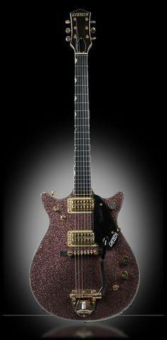 1962 Gretsch Silver Jet - Burgundy-Champagne Sparkle - Ex Eric Clapton Guitar
