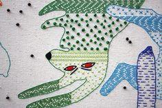 Textiles (rain of rabbits) on Behance