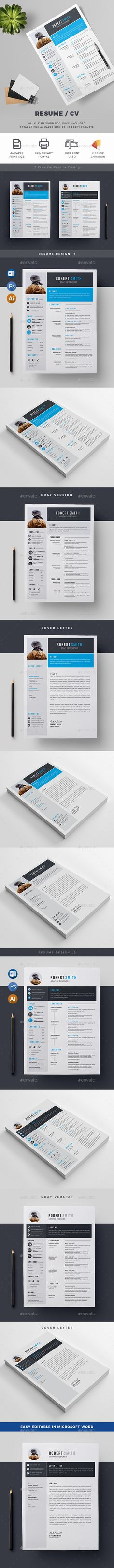 Resume\/CV Resume cv and Cv template - resume paper size