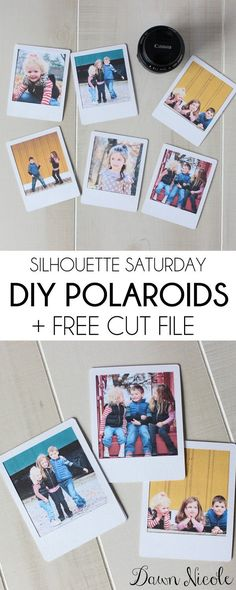 Silhouette Saturday: DIY Polaroids + Free Cut File. Making your photos look like polaroids! This photograph idea looks like a lot of fun. I think this idea would make a creative scrapbook page.