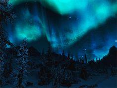 The Aurora Borealis during winter in Alaska