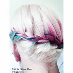 I think this was my favourite photo of the day from our photo shoot !   Instagram @meggyjeans_ Twitter @Meggy Jeans   #hairbymeggyjeans #pink #blonde #blue #purple #Pink