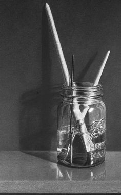 """Ball Jar with Brushes"" by J.D. Hillberry"