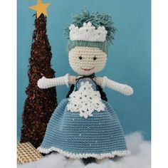 Winter Princess Lily Doll Free Crochet. Lily is back and ready for an elegant winter filled with snowy adventures. This fun Lily version includes a sleeveless evening gown, winter princess crown, opera gloves, snowflake appliqué, and even a cape! Free Pattern More Patterns Like This!