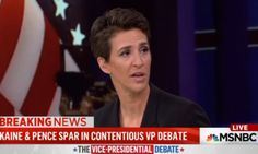 A debate ≠ three people talking at once.  | Rachel Maddow Hated The VP Debate For The Same Reason You Did | Huffington Post