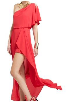 Be stylishly bold in this romantically embellished ruffled evening gown. Rent it at StyleLend.com
