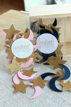 Twinkle Little Star Party Decoration Ships In 1 3 Business Days Moon And Stars Confetti 50CT Pack