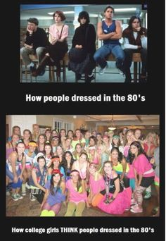 80s- highschool dress up days anyone?