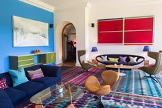 Bright, bold and beautiful The new Sitting Room at Cowley. Luxury Travel / Hotel / Cotswolds / Booutiq Hotel