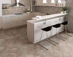 Designed with a rustic aesthetic in three strong earth colors, the Continent DP collection offers a change from the contemporary Florida Tile line. Stone Look Tile, Flooring Store, Style Tile, Porcelain Tile, Tile Design, Continents, Wall Tiles, Slate, Kitchen Remodel