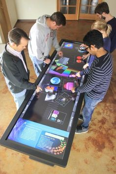 Finally A Touchscreen Desk For The Office Multi-touch. Making tables more social. Amazing example of the future of multi-touch. Speak to us about your Customer Experience or Queue Management solution. High Tech Gadgets, Cool Gadgets, Future Gadgets, Camping Gadgets, Cheap Gadgets, Baby Gadgets, Latest Gadgets, Travel Gadgets, Techno Gadgets