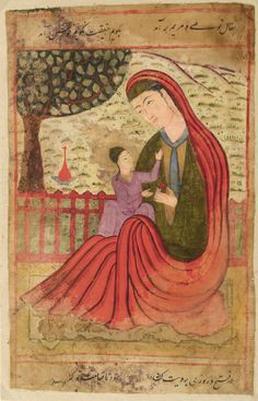 AN ILLUSTRATION FROM A SERIES OF OMENS AND INTERPRETATIONS OF DREAMS: THE VIRGIN AND CHILD, MUGHAL, CIRCA 1580