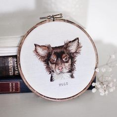 Embroidered Animal Portraits Crafted with Meticulous Impressionist-Style Stitches - My Modern Met