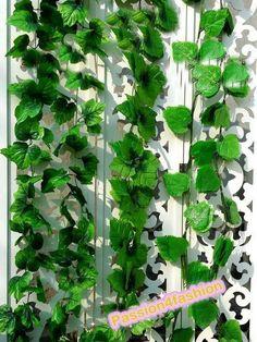 Plástico Folhas artificiais Uva Flor Rattan Vines decorativa 66 Unidade em Flores & coroas decorativas de Casa & jardim no AliExpress.com | Alibaba Group