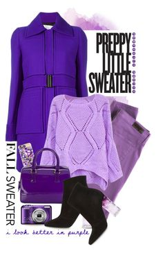 """""""Cozy Fall Sweaters"""" by shortyluv718 ❤ liked on Polyvore featuring Victoria, Victoria Beckham, AG Adriano Goldschmied, Casetify, Furla, Nicholas Kirkwood and fallsweaters"""