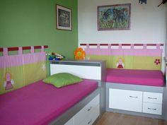 Re: Připevnění kapsáře za postel... | Názor z diskuze | Rodina.cz | č. 15354164 Bunk Beds, Kids Room, Toddler Bed, Sewing, House, Furniture, Decoration, Home Decor, Ideas