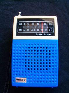Arrow AM FM Transistor Radio via Etsy.