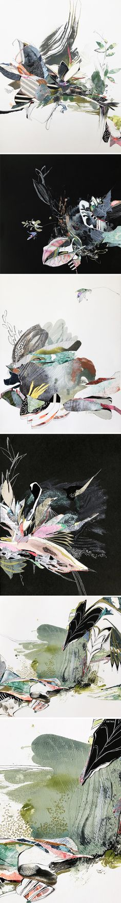mixed media by kaylee dalton <3 #contemporaryart #mixedmedia #botanical