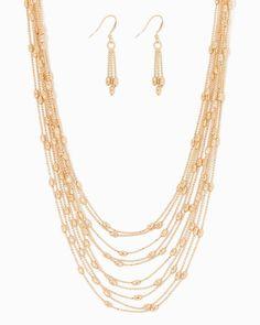 charming charlie   Ella Layered Chain Necklace Set $10   UPC: 400000236025 #charmingcharlie