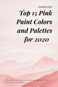 A closer look at why this new shade of pink has taken over with a focus on 15 specific pink paint colors from major paint brands. Color palettes included for inspiration. Bedroom Makeovers, Bedroom Ideas, Bedroom Decor, Pink Paint Colors, Pink Color, Color Trends, Color Combos, Home Colour Design, Trending Paint Colors