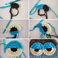 To make amigurumi eyesYou can find Amigurumi and more on our website.To make amigurumi eyes Crochet Eyes, Crochet Diy, Crochet Amigurumi, Crochet Baby Hats, Crochet Beanie, Crochet Motif, Amigurumi Patterns, Crochet Crafts, Crochet Dolls