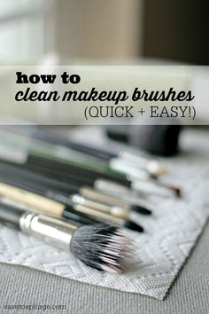 Learn how to clean makeup brushes without any special cleaners. You might already have something just as good in your house!