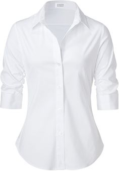 Her white work shirt :P Fall Outfits For Work, Casual Fall Outfits, Simple Outfits, Cute Nursing Scrubs, Corporate Wear, Formal Shirts, Professional Outfits, Work Shirts, Work Attire