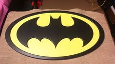 Batman Logo Wall Art - made from MDF and cut on a CNC router,