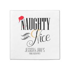 Naughty and Nice Holiday Paper Napkin