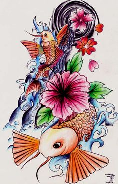 Image detail for -Japanese tattoo design by ~Rubber-Bullet-Kisses on deviantART (lower back/hip/butt)