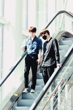 D.O. and Kai   140802 Incheon Airport departing for Xi'an