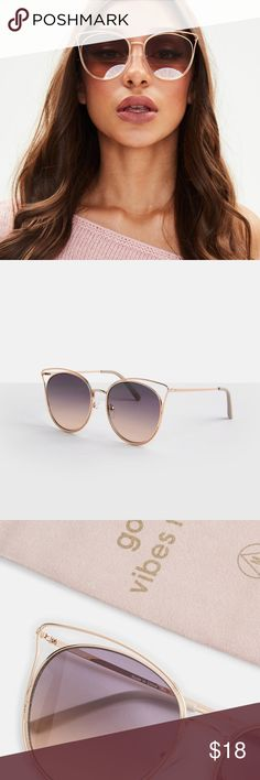 5c6b6694d13 Cat Eye Sunglasses Trendy Cat Eye Sunglasses with a lovely gradient purple  hue tint and rosegold. Poshmark. Tom Ford Gabriella Sunglasses