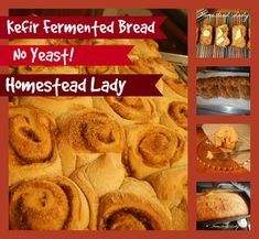Kefir Fermented Bread Dough www.homesteadlady.com - you can make cinnamon rolls, loaf bread, challah, breadsticks and more!