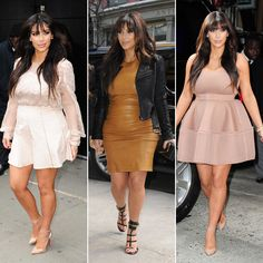 Kim Kardashian Shows Her Bump in Three Sexy Styles | Pictures