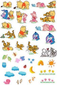 33 Disney Baby Pooh Friends Embroidery Design von CreaInvento auf Etsy