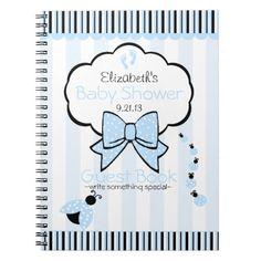 Blue Ladybug Baby Shower Guest Book- Journals