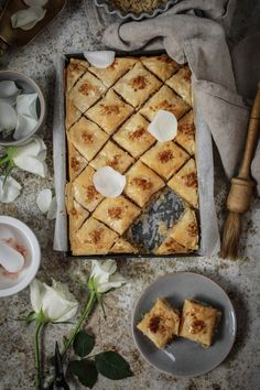 Baklava with Walnuts Orange Blossom Water and Rosewater - twigg studios