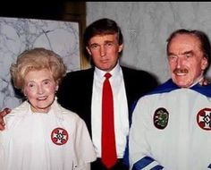 "One of many ""Family Pictures"" Tump didn't want to surface. No, it's not photoshopped!! His father was a member of the KKK and his mother supported him. Some Family....speaks volumes!!!"